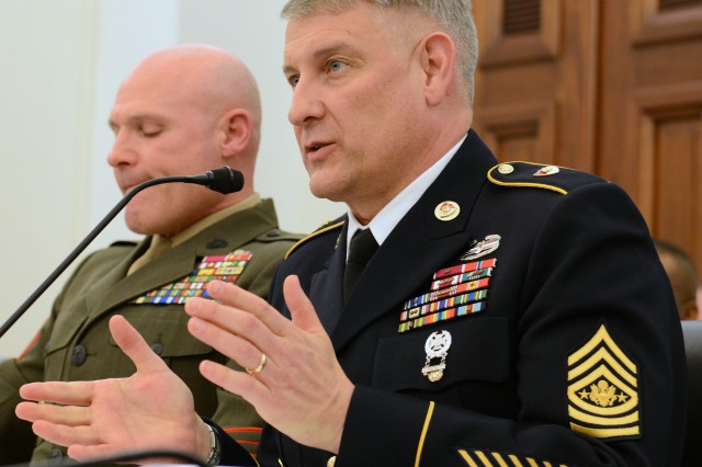 Top enlisted advisors express concern about budget, impact on quality of life