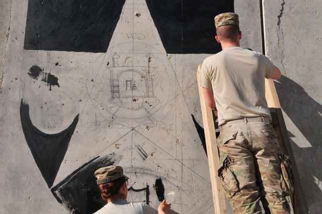 CTF 4-2 S6 soldiers communicate through art on Masum Ghar