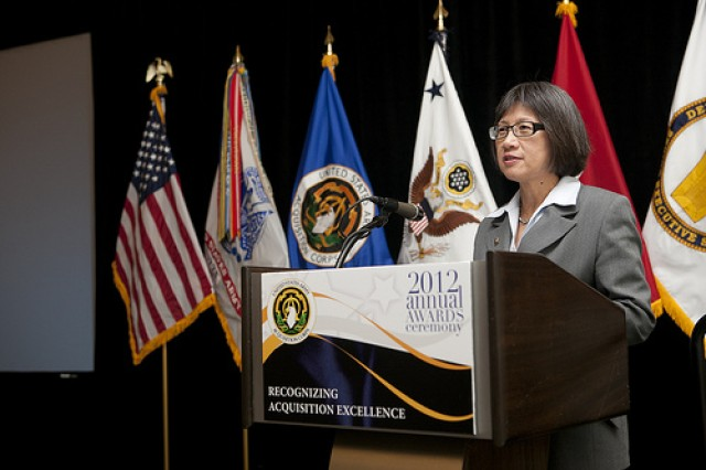 The Honorable Heidi Shyu, Assistant Secretary of the Army for Acquisition, Logistics and Technology (ASA(ALT)) and Army Acquisition Executive, hosted the 2012 Annual Army Acquisition Awards Ceremony in Crystal City, Va.