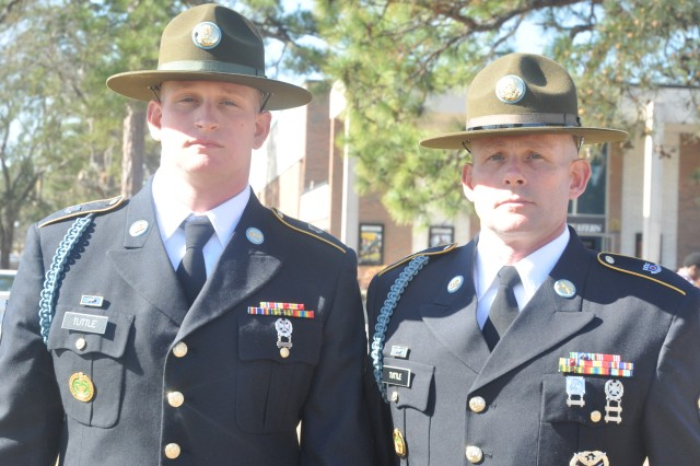 Drill sergeant father and son