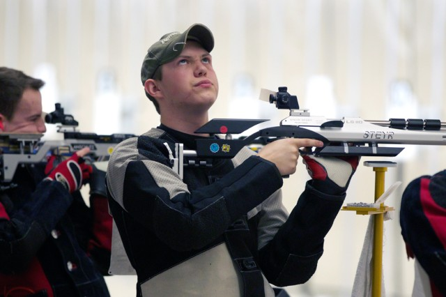 Army JROTC air rifle teams hold opening-round leads