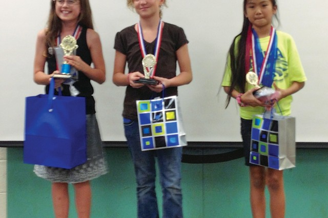 Winners from the recent Complex Science Fair include (from left to right) 1st (Hale Kula), Sorenna Jean; 2nd (Hale Kula), Marie Hagemaster; and 3rd (Mililani Mauka) Jaelyn Aranaydo.