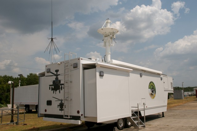 The new Mobile Apache Sensors Telemetry Trailer. Although currently dedicated to the Apache Project Office, the test trailer is an asset that is available to any organization for sensor testing.