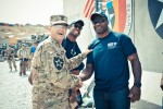 NFL players visit soldiers of Masum Ghar