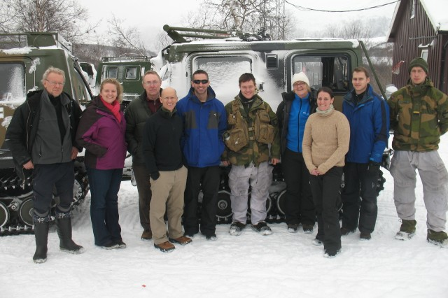 A group of scientists from the U.S. Army Research Institute of Environmental Medicine recently returned from a field study in which they teamed up with the Norwegian Defense Research Establishment and the Norwegian Army from the Garnisonen i Sør-Varanger in Kirkenes, Norway, to assess the physiological demands of a multi-day winter training exercise.