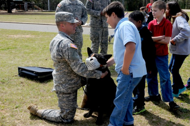 Dog demo educates Fort Rucker students on K9s