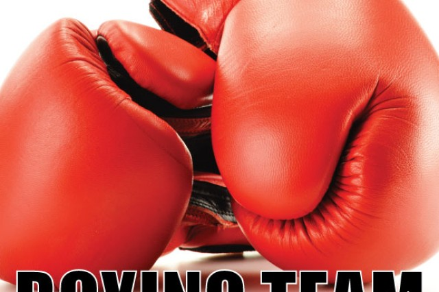 U.S. Army Garrison Ansbach is meeting to form a boxing team April 2 from 6 to 7 p.m. at Katterbach Fitness Center. To learn more, call 09802-83-2771 or DSN 467-2771.