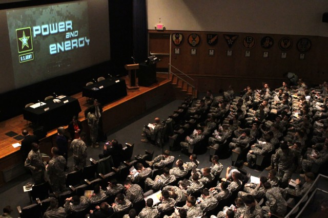 The U.S. Military Academy hosted the Army Energy-Informed Culture Summit with key leaders from Department of the Army G-4, U.S. Army Combined Arms Support Command, Training and Doctrine Command and West Point, March 27, 2013.