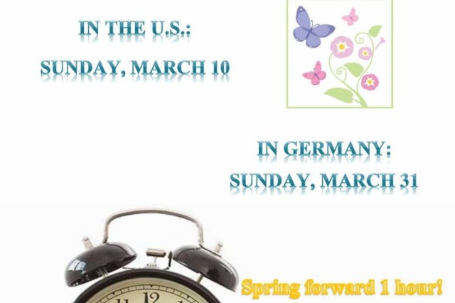On March 31, Europe sets its clocks forward one hour for daylight saving time.