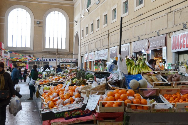 """One of the most historical, and some say most beautiful, covered markets in Europe is the Livorno Central Market """" Mercato Centrale di Livorno. It is located in a large, 18th-century, art nouveau-style building on Aurelio Scali Saffi right next to the Royal Canal in Livorno."""