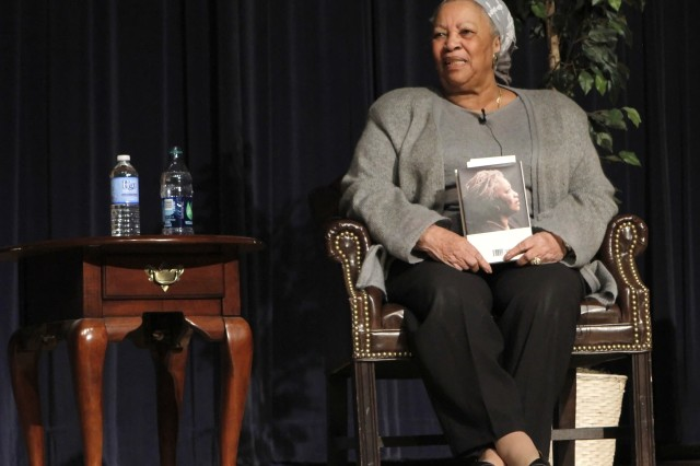 Toni Morrison, the guest lecturer March 22 at the 36th Sol Feinstone Lecture, hosted by the Department of English and Philosophy, answered questions from Class of 2016 cadets inside Robinson Auditorium.