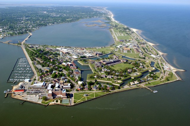 The Army has transferred back to the state of Virginia the most historic areas of Fort Monroe, including Freedom's Fortress. Pictured here, Fort Monroe, Va., seen in an aerial view.