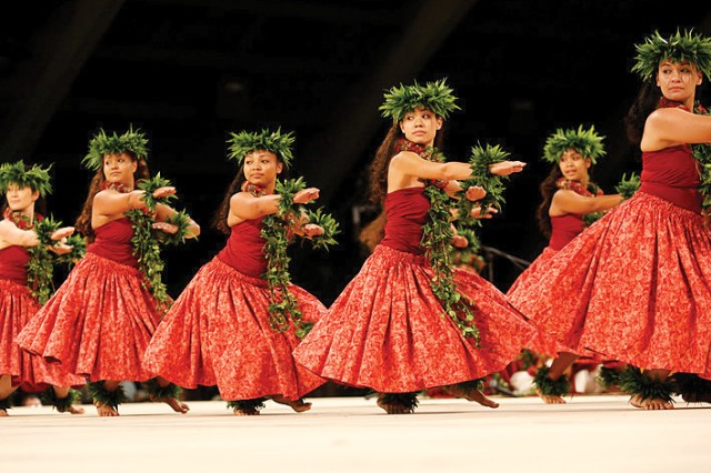 Preparations consist of extensive training and practices, ceremonial rituals and spiritual cleansing, gathering native plants and other traditional materials, creation of costumes and hula implements.