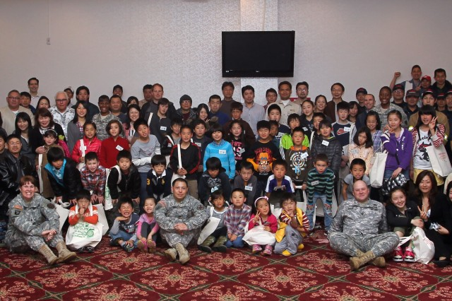Children of USAG-Japan employees joined their parents for 'Bring your children to work day', April 2. Nearly 60 children accompanied by their parents attended several demonstrations given by Garrison Japan employees at the Zama Community Club. (U.S. Army photo by Candateshia Pafford)
