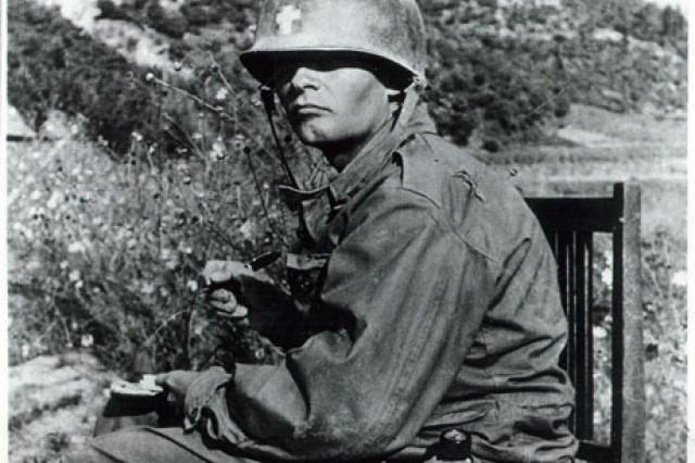 Army Chaplain (Capt.) Emil J. Kapaun in Korea.