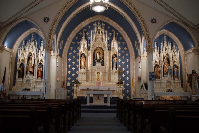 St. John Nepomucene Church, in Pilsen, Kan., was Chaplain (Capt.) Emil Kapaun's home parish, before and after service in World War II as a U.S. Army chaplain. The church is 98 years old, and virtually unchanged since Kapaun celebrated his first Mass as an ordained priest at this altar in 1940. It would be his last parish before his service during the Korean War, where he would risk life, limb and capture to save others. Kapaun died in a prisoner of war camp in North Korea, in 1951.