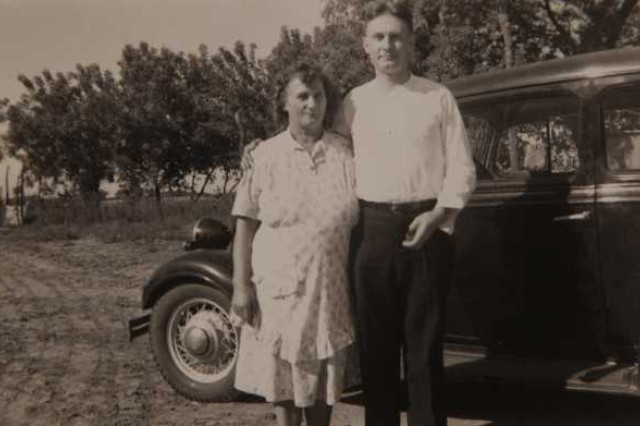 Emil Kapaun and his mother, Bessie, prior to his ordination to the priesthood, circa 1939. Kapaun became a U.S. Army chaplain in 1943, serving in World War II, and later, the Korean War.