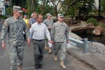 Corps Going Green:  Command tour of Westmoreland Restoration Project