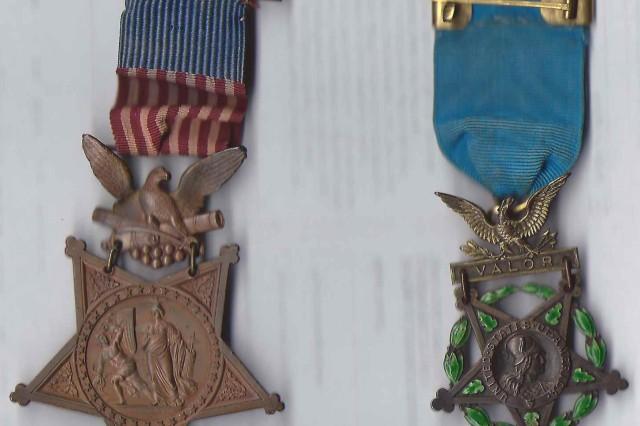 Capt. John D Terry's Civil War medals.