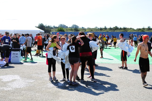 PRESIDIO OF MONTEREY, Calif. -- Participants gather at the festival area after the race.