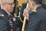 Chief Warrant Officer 4 Jesse O. Pascua assumed command of the Army Materiel Command Band