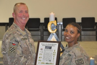 Twenty four recently promoted sergeants from 2nd Battalion, 3rd Aviation Regiment, Task Force Knighthawk became members of the Corps of Noncommissioned Officers during an induction ceremony April 2 at Kandahar Airfield, Afghanistan.