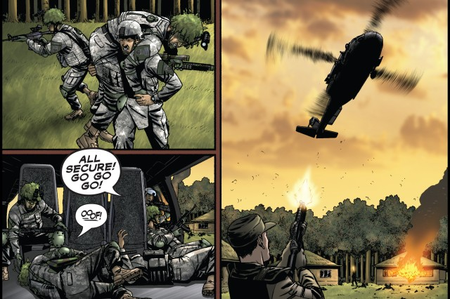 The America's Army comic book is available via the website or tablet App at http://comics.americasarmy.com.