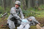 Expert Field Medical Badge candidates attempt qualification