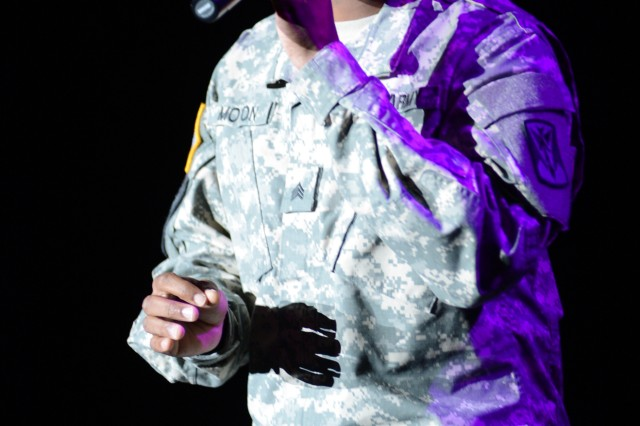 Sgt. Craig Moten of Suwon Air Base, South Korea, is a performer in the 2013 U.S. Army Soldier Show.