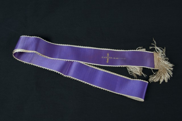 This stole would have been used by Chaplain Kapaun as he administered the Sacraments to the prisoners-of-war.