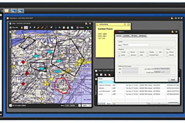 The Maneuver Widget presents the user with a virtual desktop that is customizable and extends Command Post of the Future (CPOF) capabilities, like Common Operating Picture (COP) management and collaboration, to users who are not provisioned with a Mission Command Workstation.