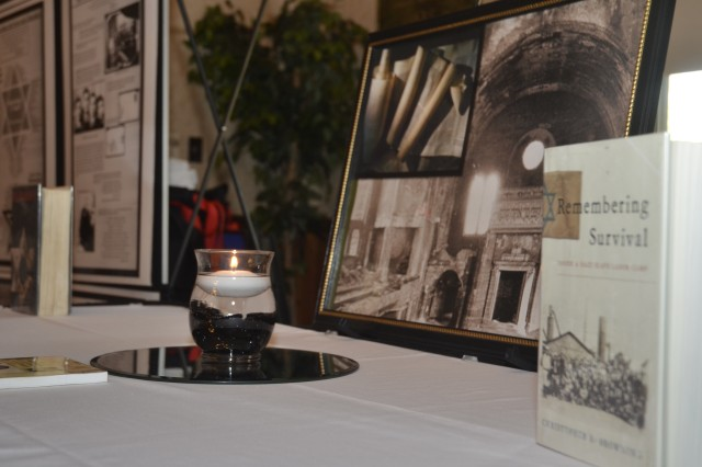 Fort Jackson hosts a Days of Remembrance observance ceremony Tuesday at the SolomonCenter to honor the millions of lives lost and altered during the Holocaust. Autobiographies and historical World War II photographs were on display.