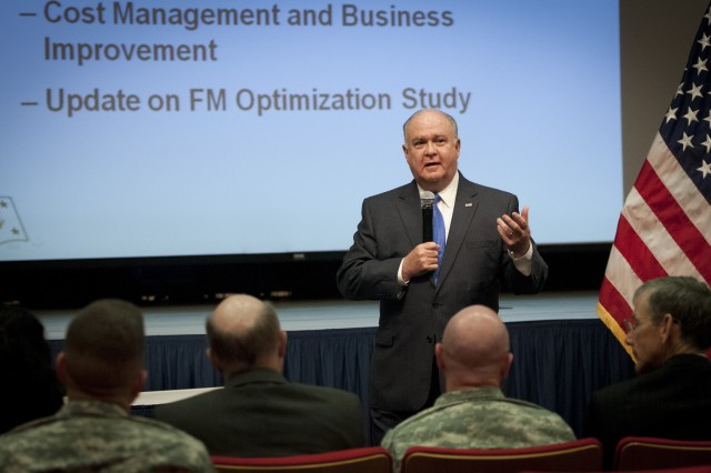Under Secretary of the Army Joseph W. Westphal expressed the Army's appreciation for the vital efforts of uniform and civilian personnel assigned to the office of the Assistant Secretary of the Army for Financial Management & Comptroller, or ASA (FM&C), during an address to the financial managers.