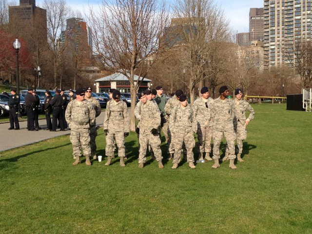 Massachusetts National Guard supports Boston Police