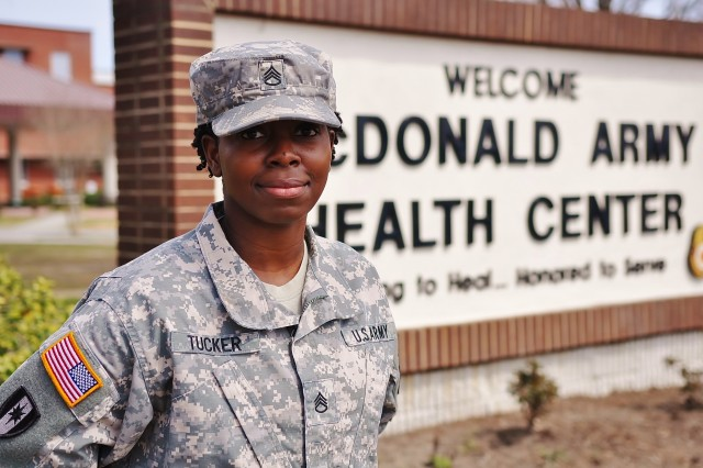 "U.S. Army Staff Sgt. Shawon Tucker serves as the noncommissioned officer in charge of the dining facility at McDonald Army Health Center at Fort Eustis, Va. Born and raised in a small town in Alabama, Tucker said despite her shyness and insecurity about leaving home, she took a chance and joined the Army for the opportunity to go to college and experience new things. She said joining the Army was ""the best decision she ever made,"" and encourages others to take chances and pursue their goals, even if they are afraid or uncomfortable."