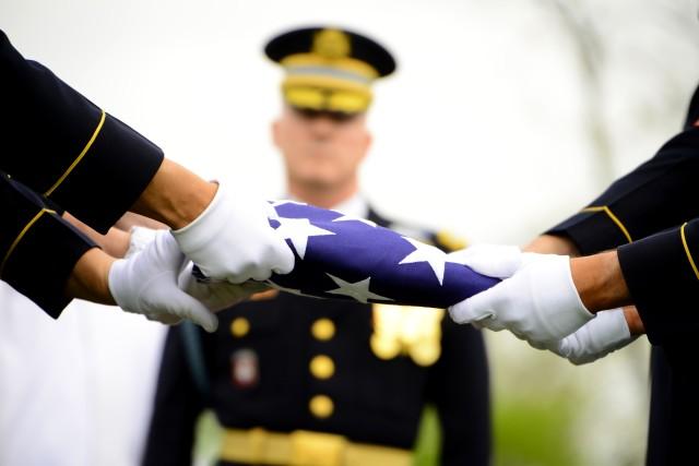 Repatriation flag folding, Capt. Don C. Faith Jr.