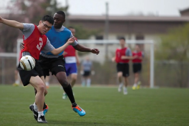 Soccer was one of several sports that teams competed in during the 2013 KATUSA-U.S. Friendship Week activities, which began Monday and close today.
