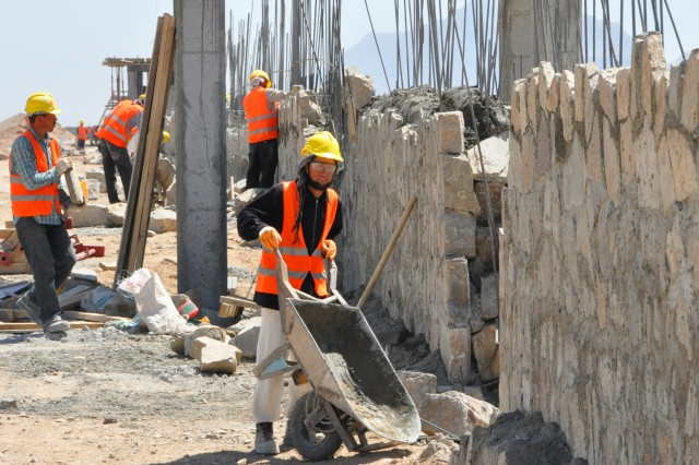 Progress continues on construction of the future home of the 3rd Brigade, 205th Corps Afghan National Army. As of April 19, the project was about 15 percent complete and will accommodate 6,000 ANA personnel.