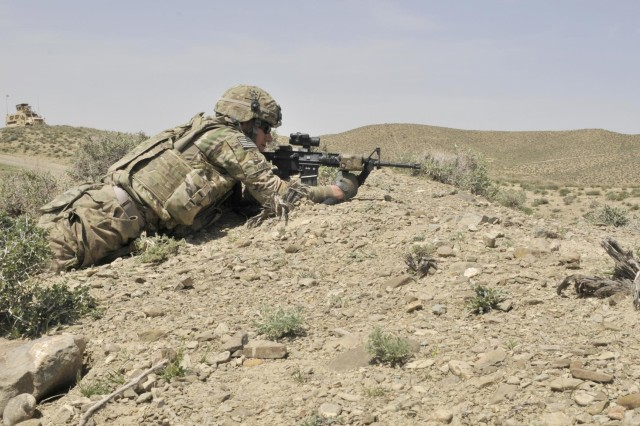 Coalition helps Afghan police secure high ground