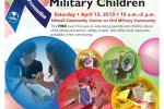 Flyer for the Presidio of Monterey Celebrating Military Children event on April 13.