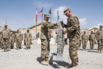 'Highlander' Brigade cases colors for redeployment
