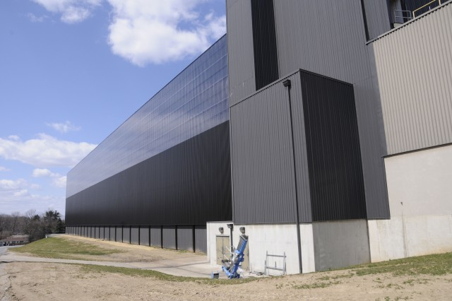 The U.S. Army Corps of Engineers installed 55,263 square feet of solar wall on the Defense Logistics Agency's Eastern Distribution Center in New Cumberland, Pa.