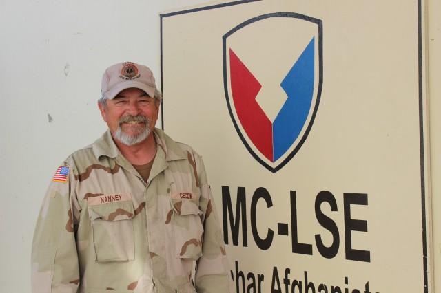 Dirk Nanney, is the CECOM Power Generation Environmental Control LAR for LSE-KAF.  Nanney travels to units and assists Soldiers with any generator or air conditioner issues they are unable to troubleshoot on their own. (Photo by Sharonda Pearson, 401st AFSB Public Affairs)