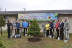 210th Fires Brigade and DDC leaders plants tree for Arbor Day