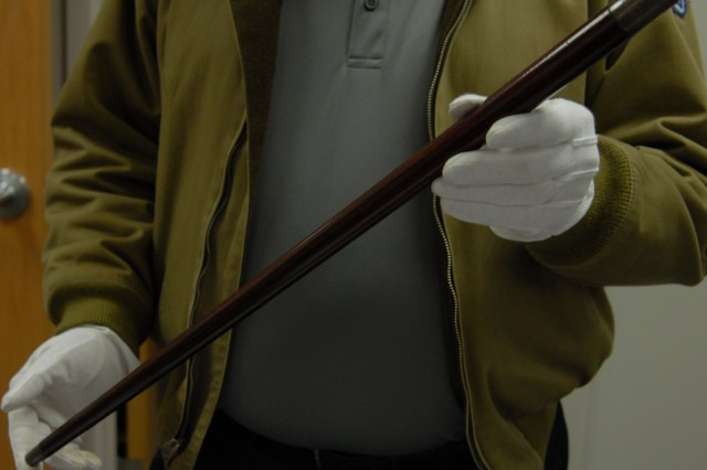 The swagger stick that Patton carried when he landed on the shores of North Africa.