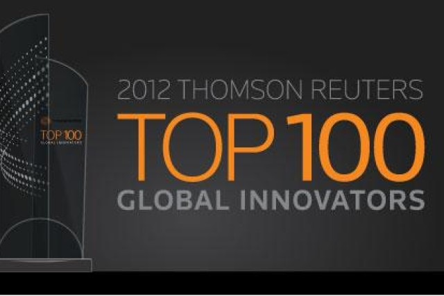 The U.S. Army's investment in innovation, especially as related to matters of national security, has resulted in a listing as one of the 2012 Thomson Reuters Top 100 Global Innovators.