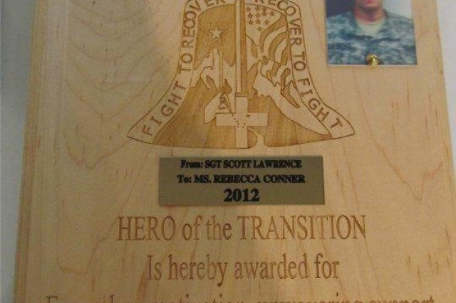 "Each Soldier who successfully transitions from the Warrior Transition Battalion-Alaska identifies their own ""Hero of the Transition,"" the person who helped them the most during their stay. The Hero of the Transition Award belongs completely to the Soldier. They can present their Hero of the Transition Award to anybody they want, cadre, staff, family members, or members of the community."