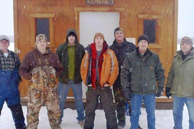 In an ongoing effort to fight the darkness of Alaska's long winters, B company, Warrior Transition Battalion-Alaska, held their second annual ice fishing event. This event is very popular with the Soldiers and cadre.