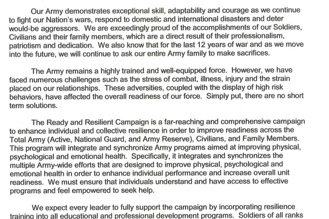 Command Resiliency Letter