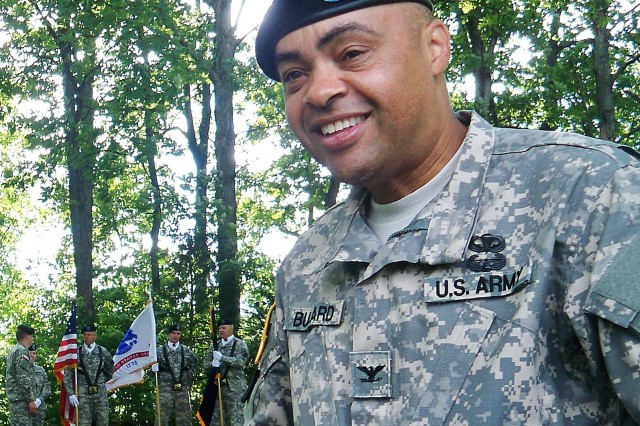 """Col. Gary Bullard, commander of Army Reserve Career Division, leads the mission to shape and sustain the Army's Federal Reserve force through aggressive retention and transition programs. """"As awareness (of these programs) increases, I expect a dramatic boost in the number of Soldiers reaching out for career assistance."""""""